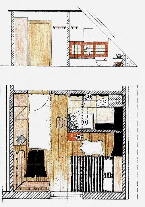 Amenajare rustică a unei camere mansardate de pensiune rurală: instalaţii