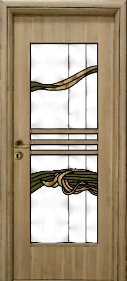 Ușă cu inserții sticlă de la Sticla-vitralii.ro