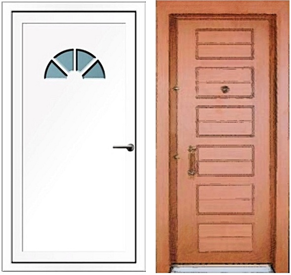 Ușă din PVC de la Prolematex.ro Ușă din fibră de sticlă de la eMobila.ro
