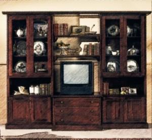 Bibliotecă clasică nuanța maroniu coniac.