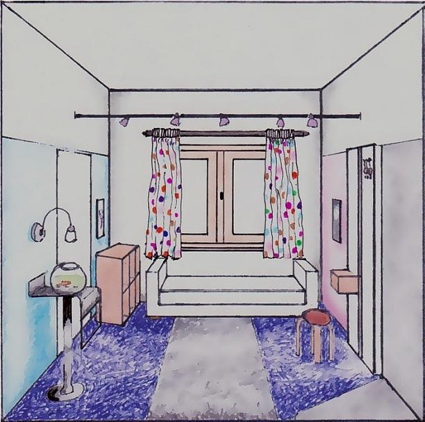 dormitor canapea extensibila