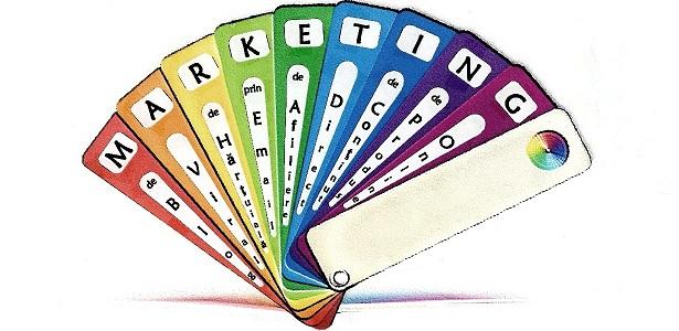 Paletar de MARKETING pentru puțină culoare ... comercială